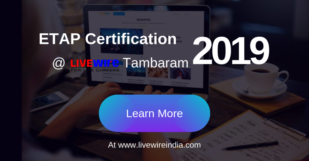 ETAP Certification Tambaram | Learn ETAP Software | Livewire Tambaram